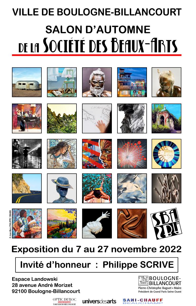 SALON D'AUTOMNE DE LA SOCIÉTÉ DES BEAUX-ARTS DE BOULGNE-BILLANCOURT sur le site d'ARTactif