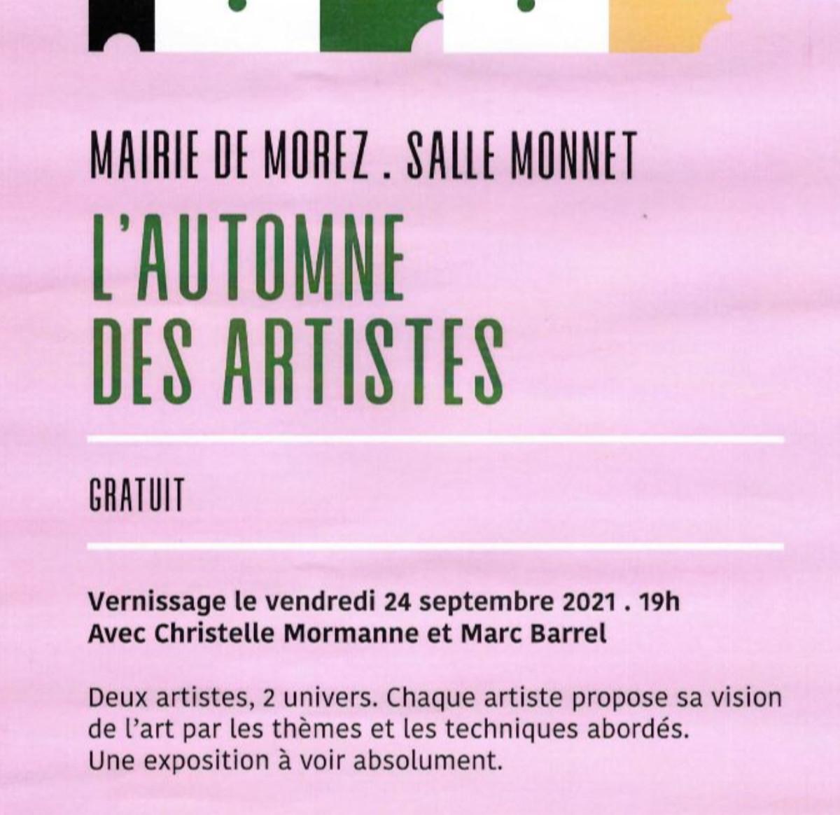 L'AUTOMNE DES ARTISTES sur le site d'ARTactif