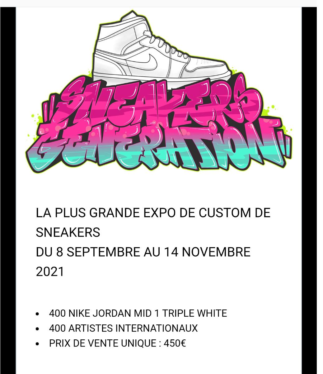 Sneakers generation sur le site d'ARTactif
