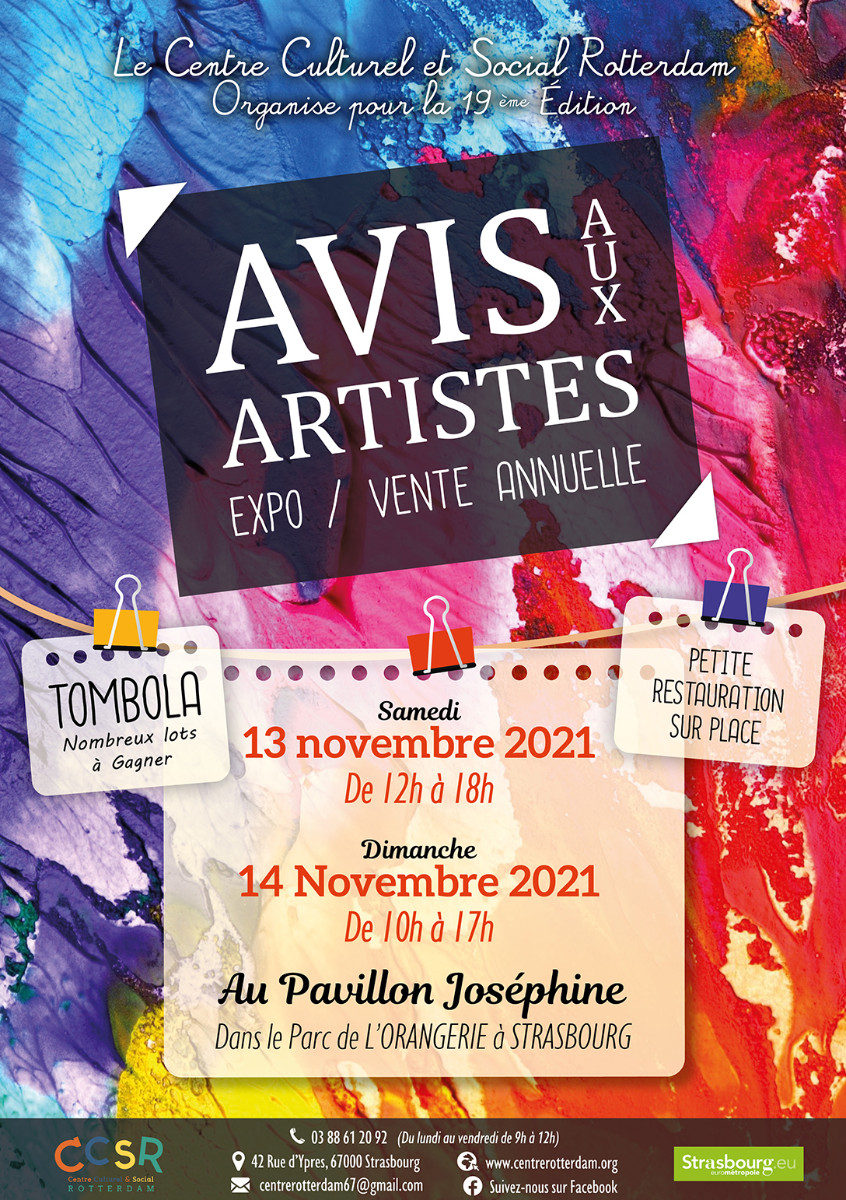 AVIS AUX ARTISTES STRASBOURG sur le site d'ARTactif