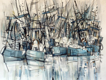la pêche en bleu sur le site d'ARTactif