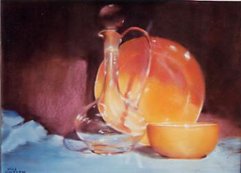 Carafe et Bol orange sur le site d'ARTactif