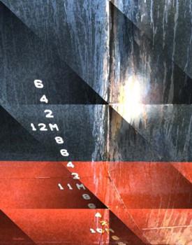 Tableau photographique de bateaux, abstraction lyrique,  De Brilliant Pioneer f 3,51-40 s revu un   Pour le quai 9 sur le site d'ARTactif