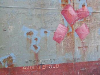 Tableau photographique de bateaux chinois, , abstraction lyrique, 0101-0324  Pour le quai 9 sur le site d'ARTactif