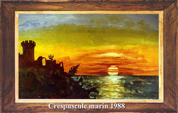 Crepuscule marin 1988 sur le site d'ARTactif