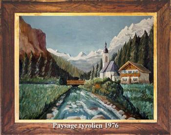 Paysage tyrolien 1976 sur le site d'ARTactif