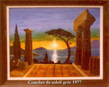 Coucher de soleil grec 1977 sur le site d'ARTactif