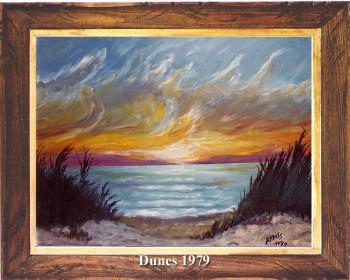 Coucher de soleil sur les dunes 1979 sur le site d'ARTactif