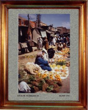Maroc, le souk des légumes à Marrakech 1994 sur le site d'ARTactif