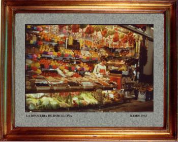 Catalogne sud, marché de la Boqueria à Barcelone 1993 sur le site d'ARTactif