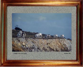 Catalogne nord, charrettes allignées 1982 sur le site d'ARTactif