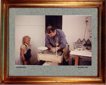 France, le potier 1980 sur le site d'ARTactif