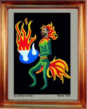 1987 Le porteur de feu sur le site d'ARTactif