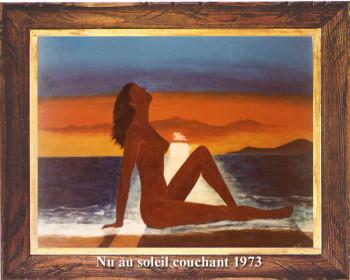 Nu au soleil couchant 1973 sur le site d'ARTactif