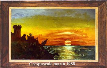 Crépuscule marin 1988 sur le site d'ARTactif