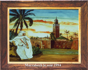 Marrakech le soir 1994 sur le site d'ARTactif