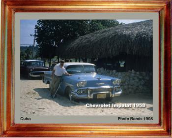 Cuba 1998 Chevrolet Impalat 1958 sur le site d'ARTactif