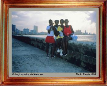 Cuba 1998 Ados du Malecon sur le site d'ARTactif