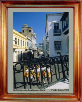 1998 Cuba collegiennes à Santiago sur le site d'ARTactif