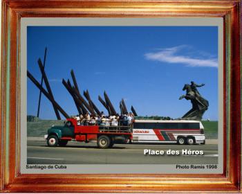 Cuba 1998 Place Révolution Santiago  sur le site d'ARTactif