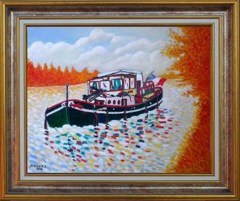 Auxonne au bord de Saône en automne sur le site d'ARTactif