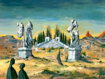 Les statues brisées sur le site d'ARTactif