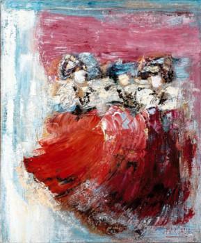 Femme en rouges 2 sur le site d'ARTactif