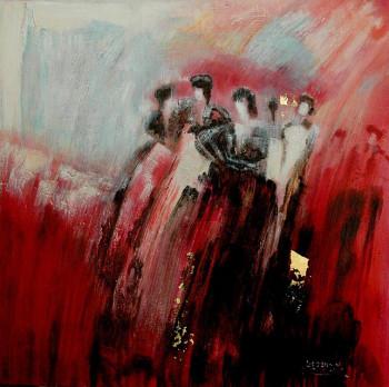 Femme en rouge 1 sur le site d'ARTactif