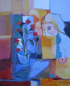 Femme au bouquet sur le site d'ARTactif