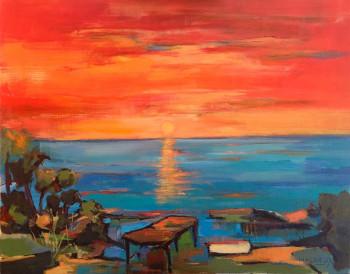 Coucher de Soleil sur le site d'ARTactif