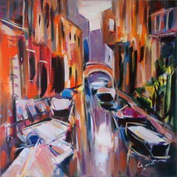 Soleil sur un canal à Venise sur le site d'ARTactif