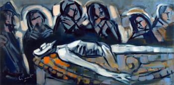 Mise au tombeau, calvaire de Kergrist Moëlou sur le site d'ARTactif
