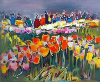 Présentation de tulipes à keukenof sur le site d'ARTactif