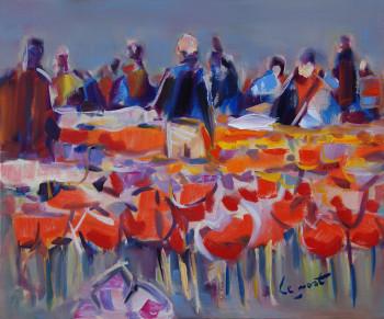 Personnages parmi les tulipes à Keukenof sur le site d'ARTactif