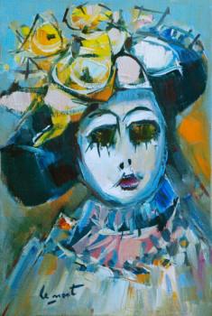 Masque au chapeau fleuri sur le site d'ARTactif
