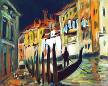 Lumière d'orage sur le Grand Canal à Venise sur le site d'ARTactif