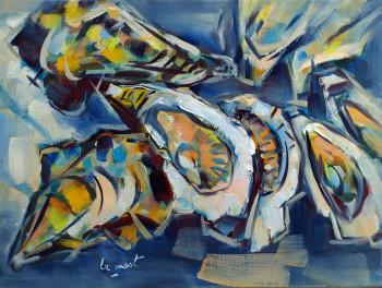 Huîtres sur fond bleu sur le site d'ARTactif