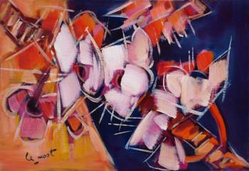 Composition aux fleurs roses sur le site d'ARTactif