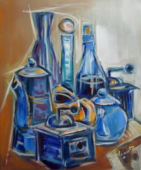 Nature morte à la cafetière bleue sur le site d'ARTactif