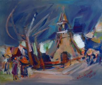 Chapelle de Perros-Hamon sous la neige sur le site d'ARTactif