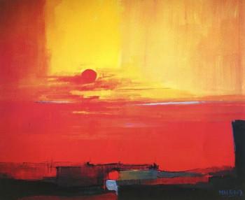 Le soleil rouge sur le site d'ARTactif