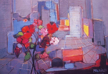 Balcon fleuri sur Manhattan sur le site d'ARTactif