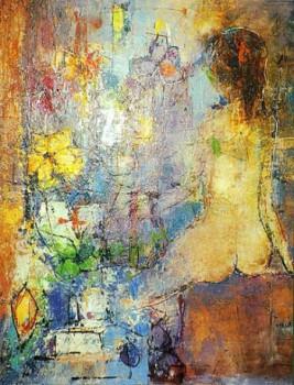 Jeune femme au bouquet sur le site d'ARTactif