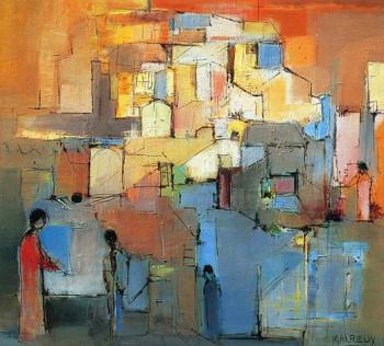 Le village escarpé sur le site d'ARTactif