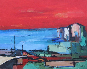 Ciel rouge sur le site d'ARTactif