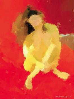 Rouge assise sur le site d'ARTactif