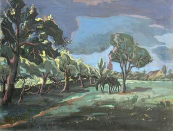 Chevaux dans la prairie sur le site d'ARTactif