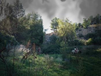 Balade à cheval sur le site d'ARTactif