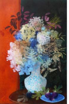 Bouquet sur fond rouge sur le site d'ARTactif