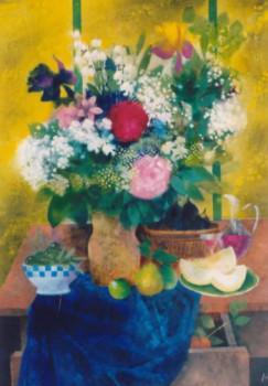 Le bouquet au tissu bleu sur le site d'ARTactif